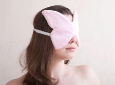 Hey, I found this really awesome Etsy listing at https://www.etsy.com/listing/130133248/butterfly-sleep-mask-pink - sleep mask designer eye covering slumber rest relaxation darken