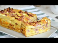 pastel de bacon y queso en pan de molde - See Tutorial and Ideas Quiches, Omelettes, Tapas, Pan Relleno, Tortilla Rolls, Xmas Food, Empanadas, French Toast, Gastronomia