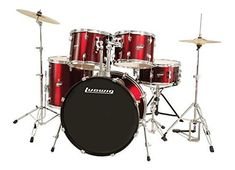 Ludwig Accent Fuse Wine Red Sparkle 5Piece Drum Set Includes Hardware Throne Pedal Cymbals Sticks and Drum Key ** To view further for this item, visit the image link.(It is Amazon affiliate link) #trendy