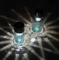 Mason jar idea would cool as a solar light Lights Pinterest