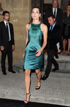 9.26.11 Charlotte Casiraghi in Gucci S11 dress and F11 heels at Gucci Museum Opening Gala in Florence