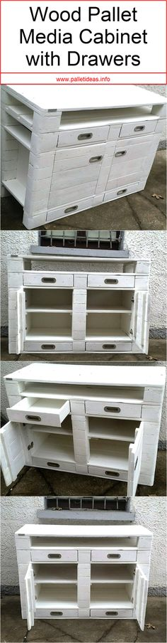 Although those very wooden media cabinets still look pretty awesome. Infact in some of the cases they seem more useful and beneficial for this particular task. The one that we have brought you guys right here is also a very nice and full of utility wood pallet media cabinet that has also got the built in drawers in a pretty large number.