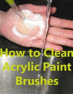 Paintbrushes are a precious tool for acrylic painters. It is critical to keep your brushes clean: keep you old brushes as good as new.