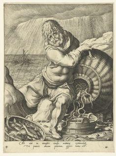 Het flegmatische temperament (het element water), Jacob de Gheyn (II), Hugo de Groot, 1596 - 1597