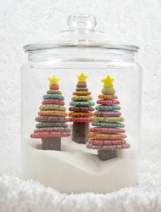 Edible, Colorful, Christmas Tree Cookies