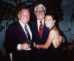 Frank Sinatra, Cary Grant and Barbara Grant, in 1982.