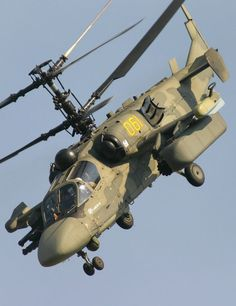 Russian Kamov Ka-52 Alligator -Hookum- attack helicopter.