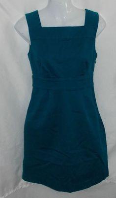 Banana Republic Dress 2P Petite Aqua Green Jumper Empire Waist | eBay