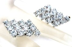 On Sale Clear Rhinestone Shoe Clips Set by TheJewelryLadysStore, $14.76