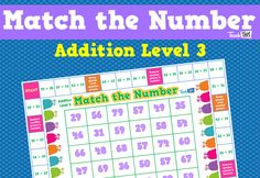 Match the Number - Addition Level 3