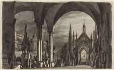 "Romolo Liverani, 'Graveyard of the Ravenswoods, for ""Lucia di Lammermoor"",' 1835, National Gallery of Art, Washington D.C."