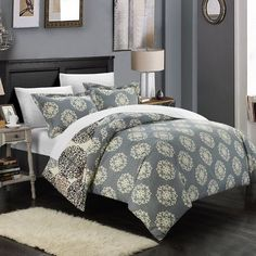 Enhance the casual, boho style of your bedroom in minutes with the addition of the Justino 7 Piece Duvet Set by Chic Home . This duvet set features. Waterford Bedding, Boho Bedding, Neutral Bedding, Chic Bedding, Luxury Bedding, Up House, King Comforter, Queen Duvet, Bedding Collections