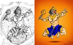 Digital Art Digital Painting Photoshop by Ranga swamy Bk #digitalart #photoshop #sketch #colouring #cartoon #artist