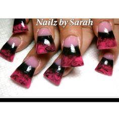 Flared Acrylic nails by Sarah