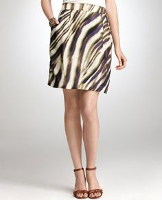 Bold patterned skirt from Anne Taylor