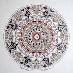 'Autumn Breath' Mandala art by Lize Beekman
