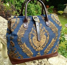 Carpet Bag by on Etsy, Carpet Bag, Tapestry Bag, Purse Patterns, Beautiful Bags, Mother Gifts, Louis Vuitton Speedy Bag, My Bags, Purses And Handbags, Bag Making