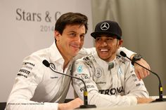 Toto Wolff, Lewis Hamilton, Mercedes Stars and Cars, 2014
