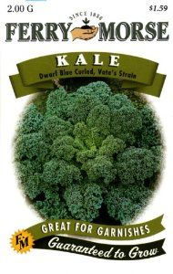 Ferry-Morse Seeds 1293 Kale - Dwarf Blue Curled, Vate's 2 Gram Packet by Ferry-morse. $1.59. Ferry-Morse has been serving up the best in seed and gardening supplies for over 100 years, and we-footre proud to still be innovating and improving. Whether you-footre looking for the finest in flowers or gourmet garden vegetables, you will find all your answers here. Take a minute and explore the product categories to the right for planning and inspiration, or visit the ...
