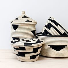 The Citizenry Baskets in black and white.
