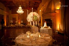 Biltmore Coral Gables wedding lighting