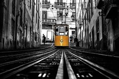 Photograph - The Tram by Jorge Maia , Portugal, Art Business Cards, Creative Art, Fine Art America, Abstract, Street, Prints, Instagram, Design