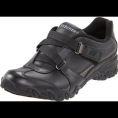 Black Velcro Sketchers nonslip Shoes Worn only for work. Not needed anymore Skechers Shoes Sneakers