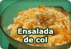 Ensalada de col :: receta vegetariana