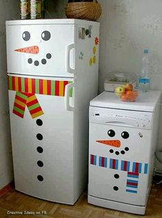 Winter decorations for fridge
