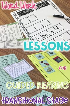 Ideas, sorts and activities for teacher of word work lesson plans for guided reading. These small group phonics lessons are for transitional readers in first, second, and third grade. Students at this stage need to practice writing spelling patterns that focus on vowel teams (vowel digraphs) and vowel diphthongs. Meets Common Core standards- Foundations.