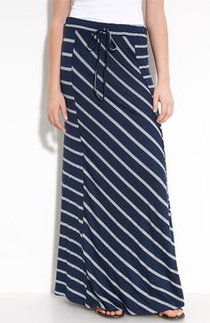 just love these long maxi skirts. Makes for long lean lines and shaved-less legs. Modest Outfits, Skirt Outfits, Modest Fashion, Skirt Fashion, Cute Outfits, Striped Maxi Skirts, Long Maxi Skirts, Cute Skirts, Navy Maxi