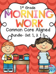 First Grade ELA Math Morning Work