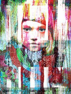 Portrait, Mixed Media, Digital Art,  Metamorphose IV, Susanne Mutert