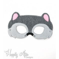 Squirrel Mask ITH Embroidery Design