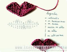 School Crochet: lips pattern to crochet Crochet Eyes, Crochet Mask, Crochet Stars, Form Crochet, Knit Or Crochet, Crochet Motif, Crochet Flowers, Crochet Stitches, Crochet Applique Patterns Free