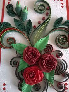Birthday Card Greeting Quilling Valentine Day by valentiartshop