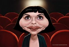 Caricatura de Audrey Tautou.