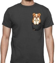 Camiseta de bulldog inglés puppy en color negro y manga corta para chico Bulldogs, Unisex, Color Negra, Mens Tops, T Shirt, Fashion, English Bulldogs, Best T Shirts, Sweatshirts