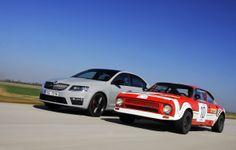 In 2014 Skoda a aniversat 40 de ani de la primele modele sportive care au purtat sigla RS.