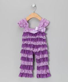 Lavender & Purple Ruffle Jumpsuit - Infant & Toddler by Tutus by Tutu AND Lulu on #zulily