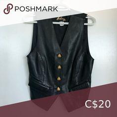 Vintage leather vest Size 6. Belonged to my mother in the 80s. Tops To My Mother, Leather Vest, Plus Fashion, Fashion Tips, Fashion Trends, Vintage Leather, Top Colour, Best Deals, Closet