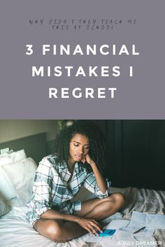 Money! Let's talk about it and the 3 big money lessons I learned the hard way during my college and university years. Thinking about it now, I wish I had been taught these lessons back in high school, at college or better yet at home.