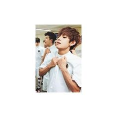 #YellowTulip ❤ liked on Polyvore featuring taehyung