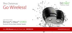 Shop wireless speakers, powerbank and qi products on this x'mas from Bitmore.co.uk & get 20% discount on your order. Offer valid for first 100 customers and till 2nd Jan'13.