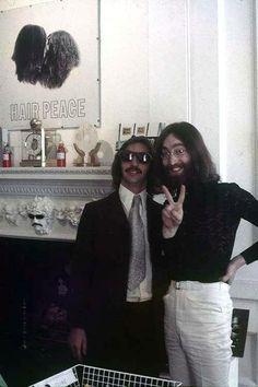 John Lennon and Richard Starkey aka Ringo Star