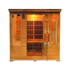 Sauna infrarouge LUXE 4 à 5 places - Selection VerySpas. Fitmarina.com Sauna Infrarouge, Tall Cabinet Storage, Locker Storage, Places, Home Decor, Control Panel, Traditional Design, Air Purifier, Lugares