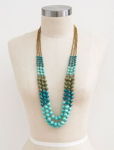 The NEW @31bits Summer 2015 Collection | The Mediterranean Strands necklace #31bits #fashionforgood