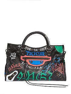 Balenciaga Arena Animation Classic City Handbag