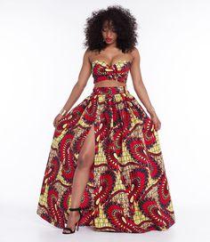 b8d13f7e493b8 Summer African Style Dress Women Sleeveless Sexy 2 Piece Set Bandeau Bra Top  and Maxi Casual Flower Print Long Dresses