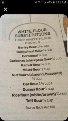Flour substitutions